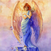 Angel Of Truth And Illusion Print by Janet Chui
