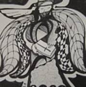 Angel Receiving Prayer Print by Jimmy King