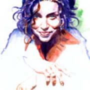 Ani Difranco Print by Ken Meyer jr