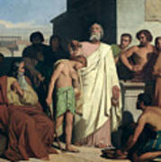 Annointing Of David By Saul Print by Felix-Joseph Barrias