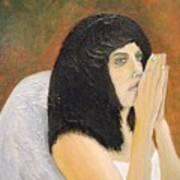 Annolita Praying Print by J Bauer