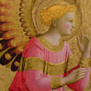 Annunciatory Angel Print by Fra Angelico