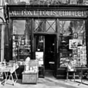 Antique Shop Paris France Print by Gerry Walden