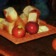 Apples And Bread Print by Susan Savad