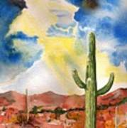 Approaching Monsoon Print by Sharon Mick