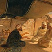 Arabs In The Desert Print by Frederick Goodall