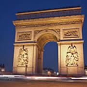 Arc De Triomphe, Paris, France Print by David Min