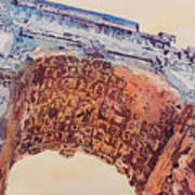 Arch Of Titus Two Print by Jenny Armitage