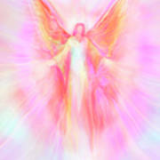 Archangel Metatron Reaching Out In Compassion Print by Glenyss Bourne