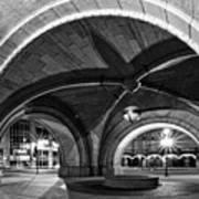 Arched In Black And White Print by CJ Schmit