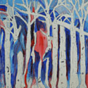 Aspen Roots Print by Christy Woodland