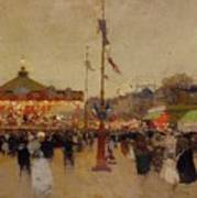 At The Fair  Print by Luigi Loir