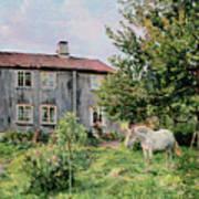 At The Farm Print by Gerhard Peter Frantz Vilhelm Munthe