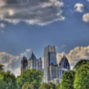 Atlanta Piedmont Park View Print by Corky Willis Atlanta Photography