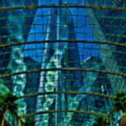 Atrium Gm Building Detroit Print by Chris Lord