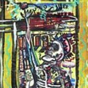 Attic Window Print by Robert Wolverton Jr