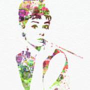 Audrey Hepburn 2 Print by Naxart Studio