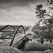 Austin 360 Bridge In Early Dawn Print by Lisa  Spencer