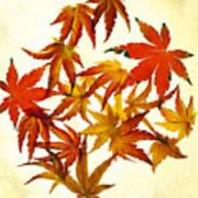 Autumn Flury Print by Rebecca Cozart