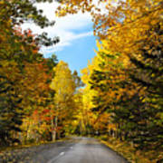 Autumn Scenic Drive Print by George Oze