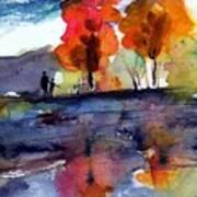 Autumn Walk Print by Anne Duke