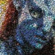 Avatar Neytiri Bottle Cap Mosaic Print by Paul Van Scott