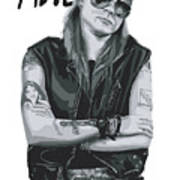 Axl Rose Print by Unknow