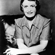 Ayn Rand, 1957 Author Of Atlas Shrugged Print by Everett