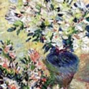 Azaleas Print by Claude Monet