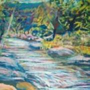 Babbling Brook Print by Richalyn Marquez