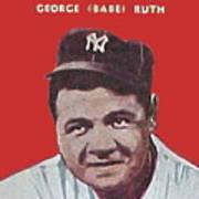 Babe Ruth Print by Paul Van Scott