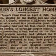 Babes Longest Homer Print by David Lee Thompson