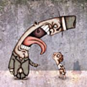 Bad Rich Man Print by Autogiro Illustration