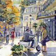 Baden-baden Sophienstr Last Warm Day Print by Yuriy  Shevchuk