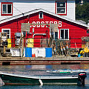 Bailey Island Lobster Pound Print by Susan Cole Kelly