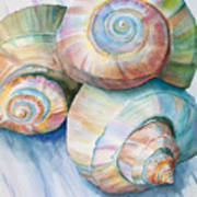 Balance In Spirals Watercolor Painting Print by Michelle Wiarda