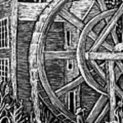 Bale Grist Mill Print by Valera Ainsworth