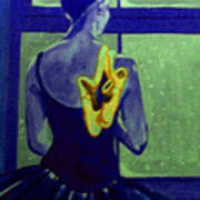 Ballerine En Hiver Print by Rusty Woodward Gladdish
