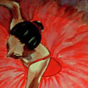 Ballerine Rouge Print by Rusty Woodward Gladdish