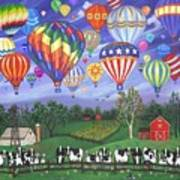 Balloon Race Two Print by Linda Mears