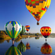 Balloon Reflections Print by Mike  Dawson