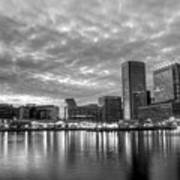 Baltimore In Black And White Print by JC Findley