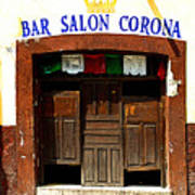 Bar Salon Corona Print by Mexicolors Art Photography