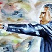 Barack Obama Commander In Chief Print by Brian Degnon