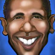 Barack Obama Print by Kevin Middleton