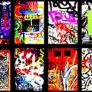 Barcelona Doors ... All Graffiti Print by Funkpix Photo Hunter