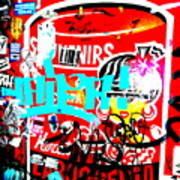 Barcelona Street Graffiti Print by Funkpix Photo Hunter