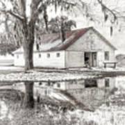 Barn Reflection Print by Scott Hansen