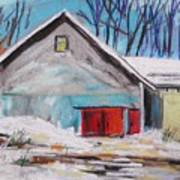 Barnyard In Winter Print by John Williams