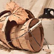 Baskets With Crock I Print by Tom Mc Nemar